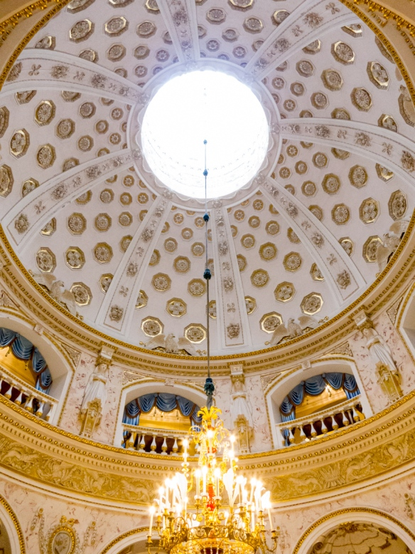 A grand reception hall with a dome, Pavlosk Palace, St. Petersburg, Russia