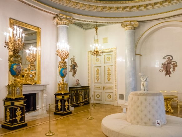 "A ""Palace of Culture for Educators"", portions of the Yusupov Palace, today are open as a museum, including the basement where Rasputin was murdered by Prince Felix Yusupov; St. Petersburg, Russia"