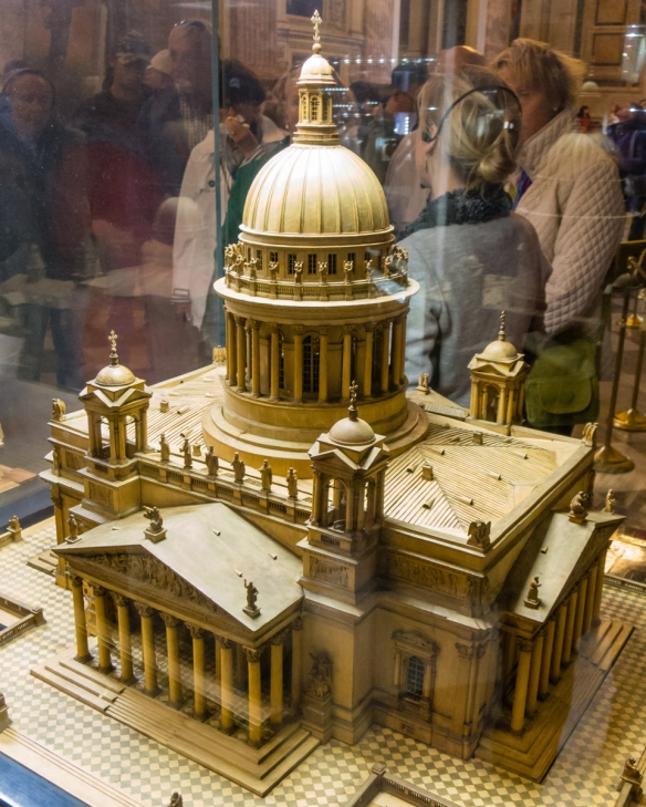 An architectural model (inside the actual cathedral) of Saint Isaac's Cathedral or Isaakievskiy Sobor in St. Petersburg, Russia, the largest Russian Orthodox cathedral (sobo) in the city