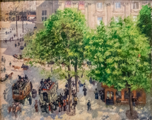 "Camille Pissarro (1830 – 1903) ""Place du Theatre Francais, Paris"", 1898, oil on canvas, from S. I. Shchukin's collection, The Hermitage Museum, St. Petersburg, Russia"