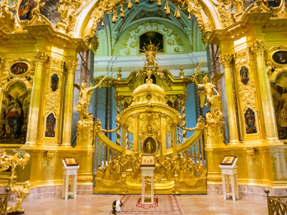 Central altar gate, Saints Peter and Paul's Cathedral, St. Petersburg, Russia