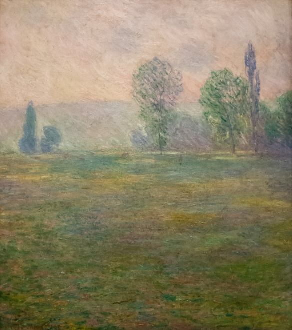 "Claude Monet (1840 – 1926) ""Meadows at Giverny"", 1888, oil on canvas, from S. I. Shchukin's collection, The Hermitage Museum, St. Petersburg, Russia"