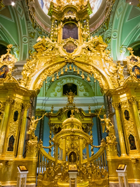 Close-up of the central altar gate, Saints Peter and Paul's Cathedral, St. Petersburg, Russia