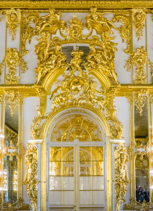 Detail of gilding in the Grand Hall, Catherine's Palace, St. Petersburg, Russia