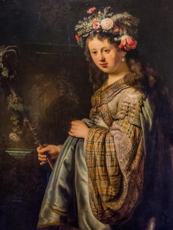"""""""Flora"""", 1634, by Rembrandt van Rijn, Hermitage Museum, St. Petersburg, Russia"""