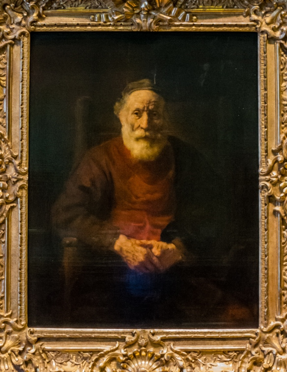 """Portrait of an Old Man in Red"" by Rembrandt van Rijn, Hermitage Museum, St. Petersburg, Russia"