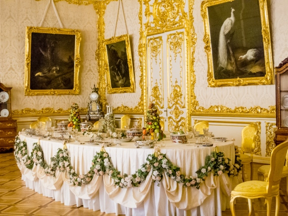 Family dining room, Catherine's Palace, St. Petersburg, Russia