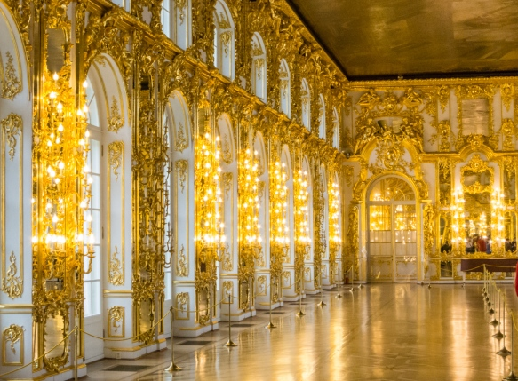 Grand Hall in Catherine's Palace, St. Petersburg, Russia; yes, it is possible to out-Versailles Versailles!