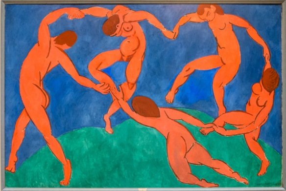 "Henri Matisse (1869 – 1954), ""Dance"", 1910, oil on canvas, Acquired in 1948 from the State Museum of Modern Western Art, Moscow; formerly in the S. I. Shchukin collection; The Hermitage Museum, St. Petersburg, Russia"