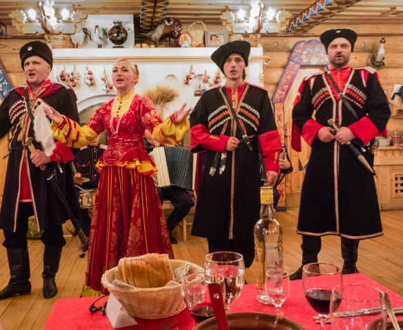 Our entertainment continued throughout much of the evening, Podvoyre (Dacha Terem) Restaurant, St. Petersburg, Russia