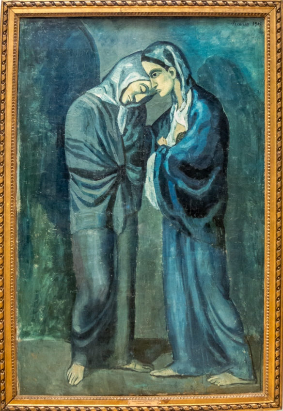 "Pablo Picasso (1881 – 1973) ""Two Sisters (the Visit)"", 1902, oil on canvas, Acquired in 1948 from the State Museum of Modern Western Art, Moscow; formerly in the S. I. Shchukin collection; The Hermitage Museum, St. Petersburg, Russia"