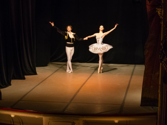 Pas de deux by dancers from the nearby renowned Mariinsky Ballet; Yusupov Palace, St. Petersburg, Russia