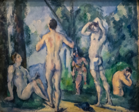 "Paul Cezanne (1839 – 1906) ""Bathers"", ca. 1890-1891, oil on canvas, from Otto Krebs's collection, The Hermitage Museum, St. Petersburg, Russia"