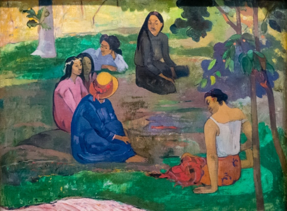 "Paul Gauguin (1848 – 1903) ""Les Parau Parau (Conversation)"", 1891, oil on canvas, from I. A. Morozov's collection, The Hermitage Museum, St. Petersburg, Russia"