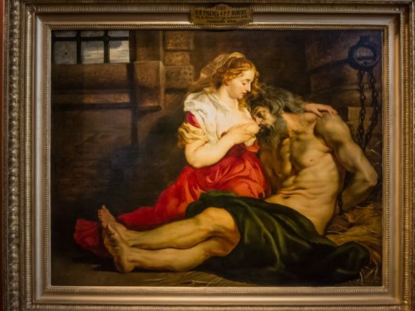 "Peter Paul Rubens (1577 Germany – 1640 Antwerp) ""Roman Charity (Cimon and Pero)"", oil on canvas, acquired in 1768 from the collection of Count C. Cobenzl, The Hermitage Museum, St. Petersburg, Russia"