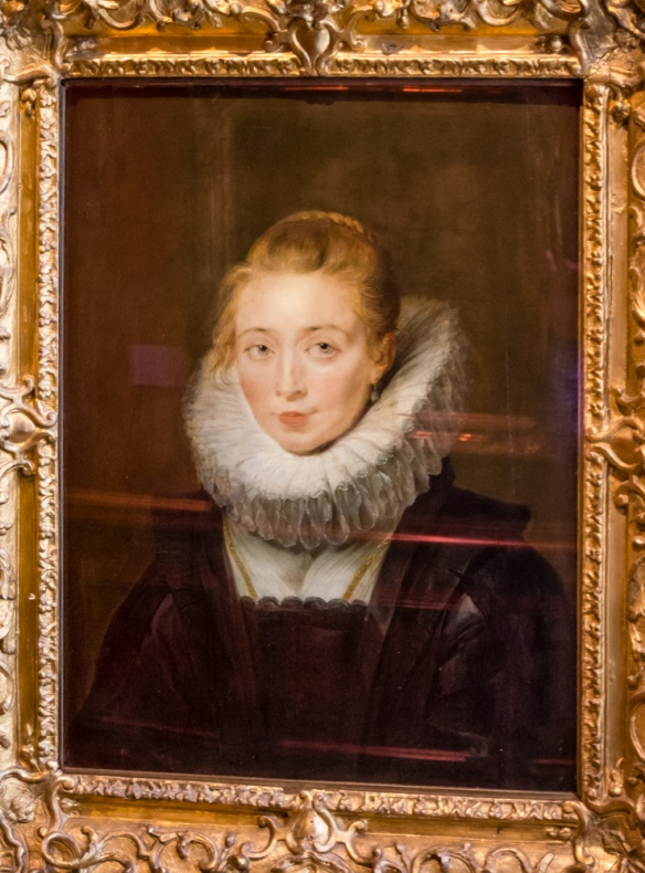 """Peter Paul Rubens """"Portrait of a Lady-in-Waiting to the Infanta Isabel (Portrait of Rubens' Daughter Clara Serena?)"""", oil on panel, acquired in 1772 from the Crozat collection, The Hermitage Museum, St. Petersburg, Russia"""