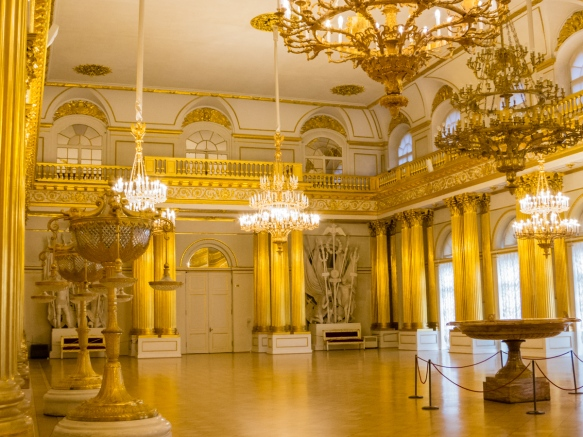 The Armorial Hall of The Winter Palace, St. Petersburg, Russia