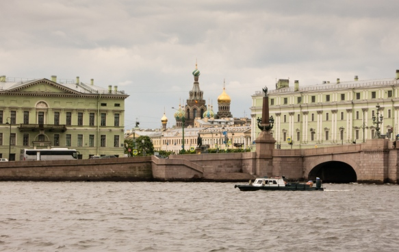 The Church of Our Savior on the Spilled Blood [Russian- Храм Спаса на Крови] viewed from the Neva River, St. Petersburg, Russia