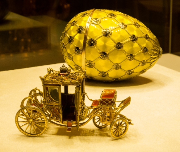The Imperial Coronation Egg, 1897, the most famous and iconic of all the Fabergé eggs (previously owned by Malcolm Forbes, New York, NY), Fabergé Museum, St. Petersburg, Russia