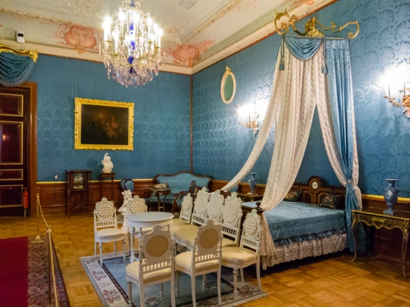 The rooms in the palace were preserved after the Russian Revolution in 1917; the palace was opened to the public in 1925 as a museum to show the excesses of the nobles under the Tsarist era; Yusupov Palace, St. Petersburg, Russia