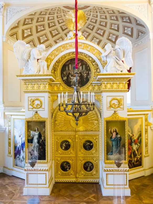 The Royal chapel, for the private use of the Tsar and his family, Pavlosk Palace, St. Petersburg, Russia