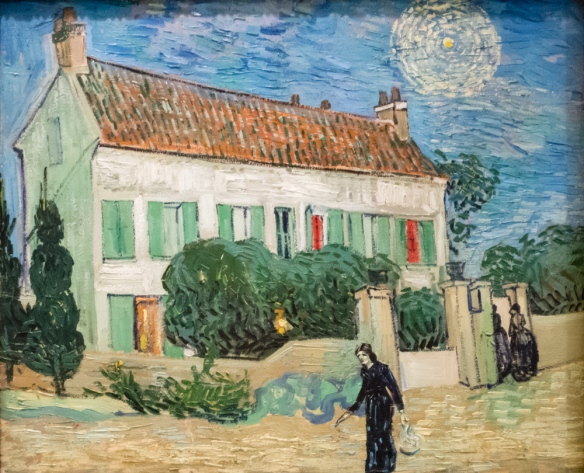 "Vincent Van Gogh (1853 – 1890) ""The White House at Night"""", June 1890, oil on canvas, from Otto Krebs's collection, The Hermitage Museum, St. Petersburg, Russia"