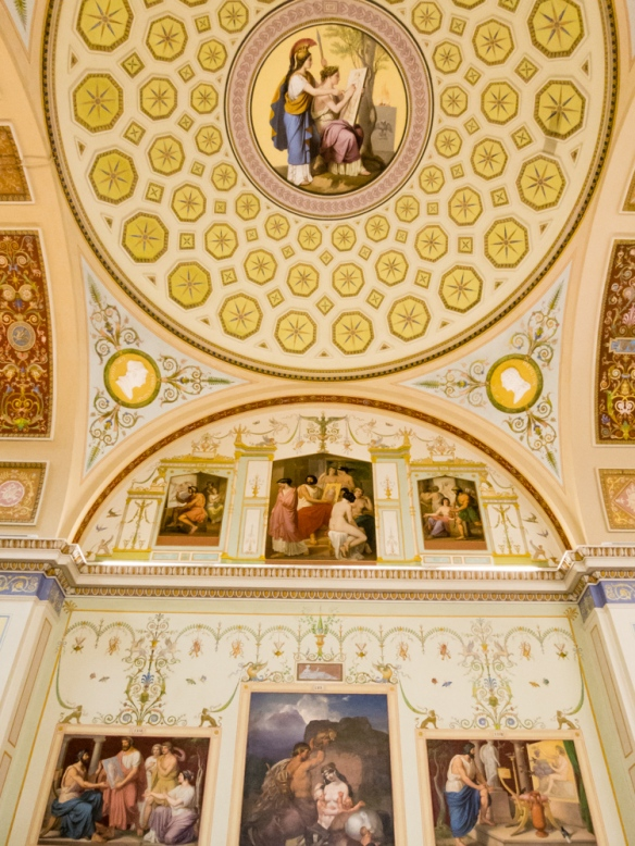 Wall and ceiling paintings in the European Sculpture Gallery, The Hermitage Museum, St. Petersburg, Russia