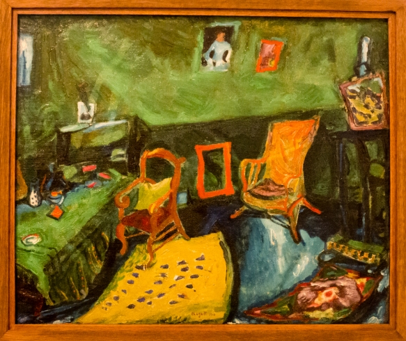 L'Atelier, Marc Chagall 1910, oil on canvas, Museo Nazionale Marc Chagall (Marc Chagall National Museum), Nice, France