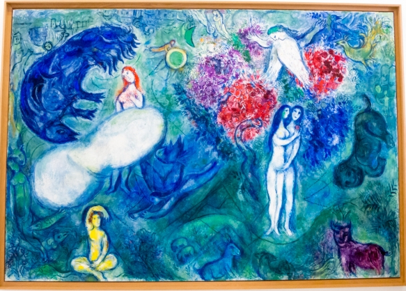 Paradise, Marc Chagall 1961, oil on canvas, Museo Nazionale Marc Chagall (Marc Chagall National Museum), Nice, France
