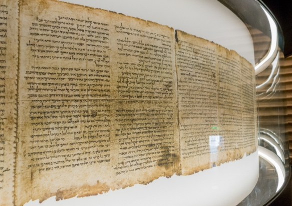 a-close-up-of-the-isaiah-scroll-dating-from-the-second-century-bc-the-most-intact-of-the-dead-sea-scrolls-the-shrine-of-the-book-also-houses-the-aleppo-codex-dating-from-the-10th-century-ce-the-o