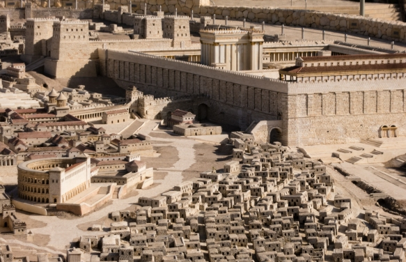 a-model-of-the-old-city-of-jerusalem-the-holyland-model-of-jerusalem-1966-based-on-the-writings-of-josephus-as-imagined-at-the-time-of-jesus-with-the-second-jewish-temple-on-the