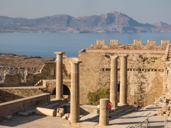 a-partial-reconstruction-of-a-temple-in-the-acropolis-of-lindos-rhodes-dodecanese-greece
