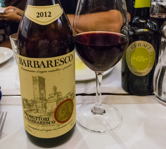 Accompanying our luncheon was an excellent 2012 Barbaresco from the Piemonte (Piedmont) cooperative producer Produttori del Barbaresco; Salumeria Roscioli, Roma, Italy
