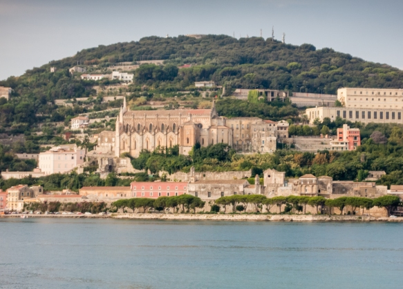 Chiesa St. Francesco – dating back to a monastery built in 1222 that was founded by Francis of Assisi and then converted to a church in the 14th century, Gaeta, Italy dominates the hillside of Monte Orlando, overlooking Gaeta Harbor_