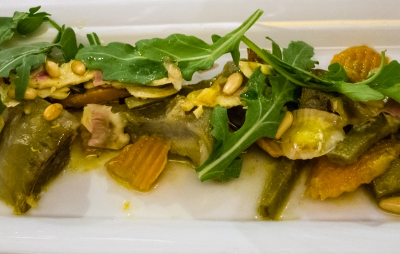 Fresh artichoke salad, Salumeria Roscioli, Roma, Italy