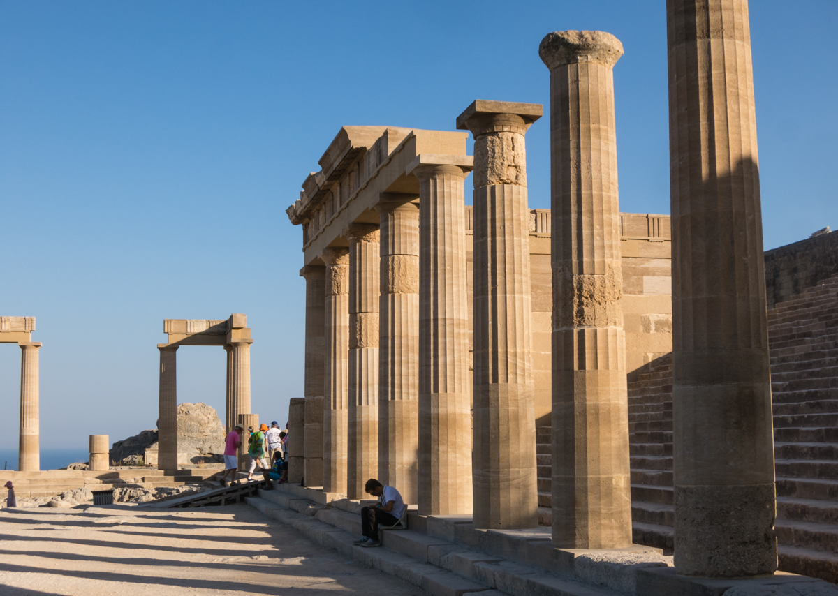The Acropolis of Lindos Rhodes Dodecanese Greece Where in the