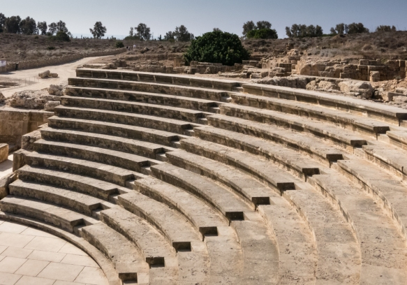 the-odeon-theater-like-space-adjacent-to-the-agora-of-kato-pathos-the-forum-or-central-meeting-place-of-the-city-kato-pafos-archaeological-site-cyprus