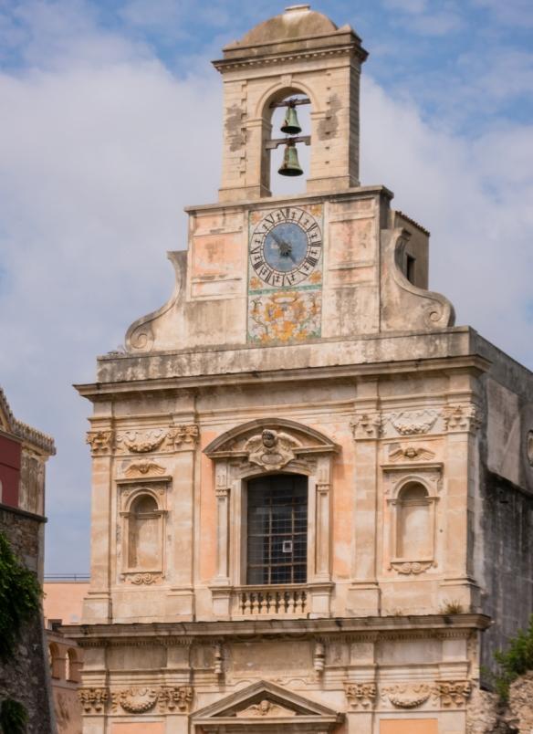 The façade of the Sanctuary of SS Ammunziata, Gaeta, Italy