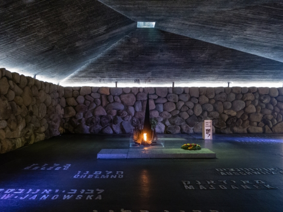 the-hall-of-remembrance-is-a-memorial-to-all-the-victims-of-the-holocaust-with-an-eternal-flame-in-a-building-designed-after-a-gas-chamber-at-auschwitz-replete-with-a-hole-in-the-ceiling-where-the-naz