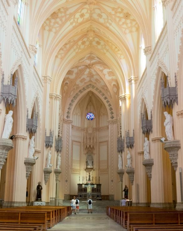 The interior of Chiesa St. Francesco, Gaeta, Italy