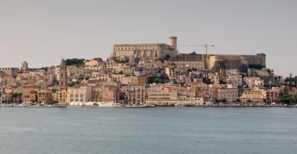 The Medieval Quarter of Gaeta, Italy, with Castello Angevin-Aragonese on top of the hill – once one of southern Italy's strongest fortresses