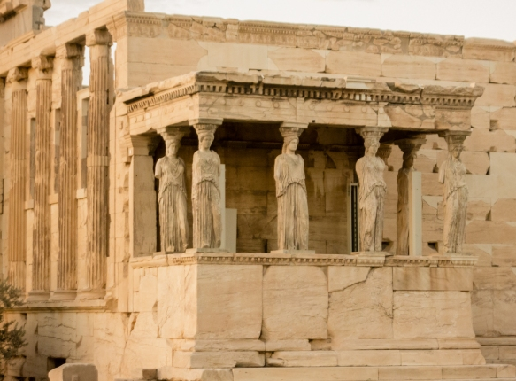 the-porch-of-the-caryatids-with-replicas-of-the-original-caryatids-sculpted-female-figures-serving-as-an-architectural-support-taking-the-place-of-a-column-or-a-pillar-supporting-an-entablature-on-he