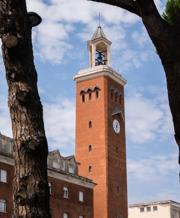 The tower of city hall, Gaeta, Italy