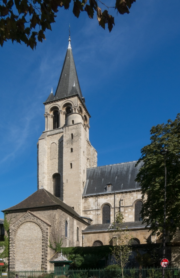 the-benedictine-abbey-of-saint-germain-des-pres-on-the-left-bank-was-founded-in-the-6th-century-and-was-the-burial-place-of-merovingian-kings-of-neustria-the-church-gave-its-name-to-the-quarter-of-sa