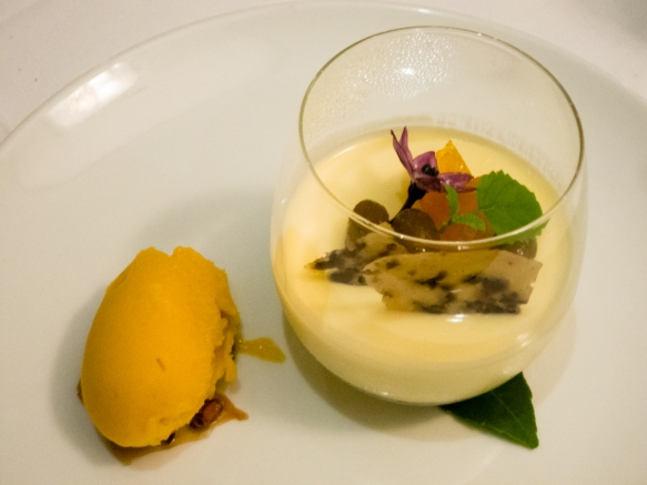 a-dessert-course-of-pudding-with-mango-sorbet-cape-lodge-restaurant-wilyabrup-margaret-river-region-western-australia