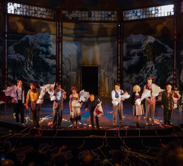the-final-curtain-call-on-new-years-eve-with-the-principal-singers-and-the-orchestra-conductor-of-puccinis-classic-parisian-love-story-opera-la-boheme-sydney-new-south-wales