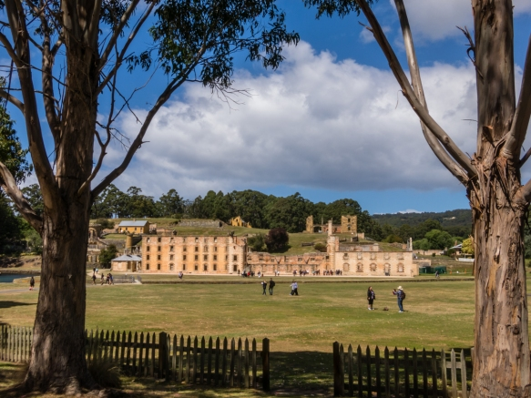 a-view-of-the-main-penitentiary-1857-through-trees-of-the-government-gardens-1846-port-arthur-historic-site-tasmania-australia