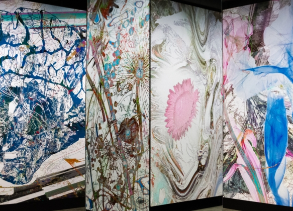 glass-panels-and-a-mirror-second-from-the-left-panel-that-are-a-fraction-of-the-floral-art-in-an-exhibition-room-that-measured-perhaps-25-feet-by-20-feet-7-6-by-6-1-meters-mona