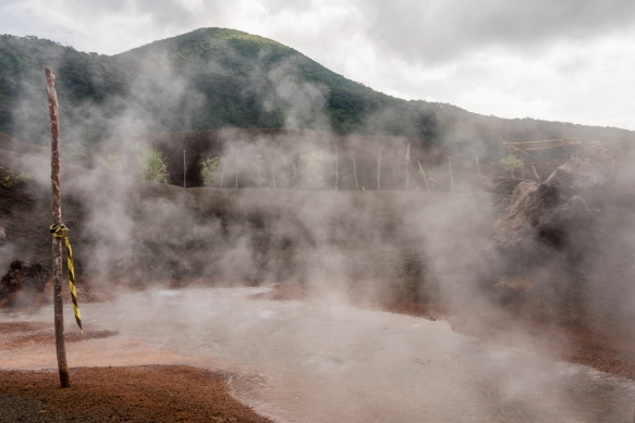 A close up of the hot springs, Rabaul, Papua New Guinea