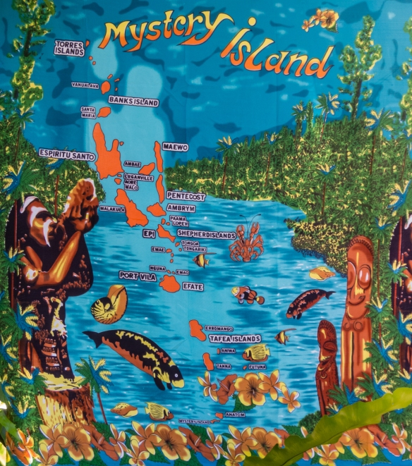a-tapestry-printed-with-a-map-of-the-islands-of-vanuatu-was-for-sale-with-others-in-an-open-air-market-as-we-returned-from-the-riri-riri-river-and-blue-hole-luganville-espiritu-santo-vanuatu